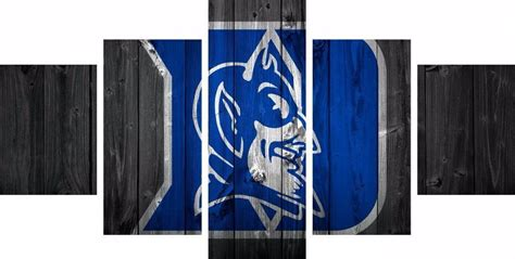 5 piece duke blue devils basketball canvas wall art painting for sale it make your day