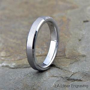 tungsten wedding band brushed tungsten ring beveled With brushed beveled edge wedding ring