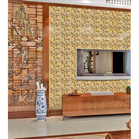 decorative kitchen wall tiles gold 304 stainless steel tile metal tiles yellow 6503