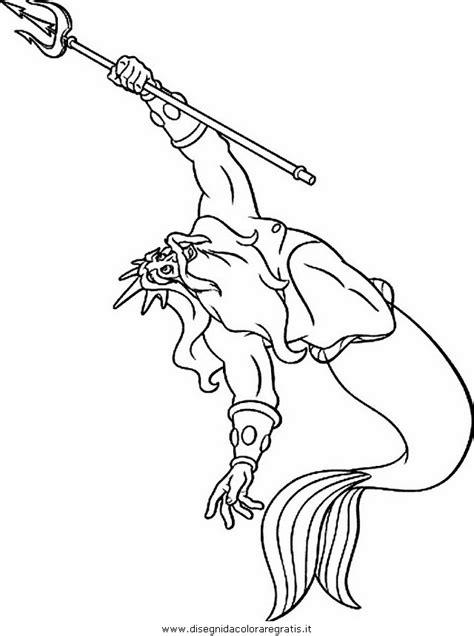 disegno sirenetta personaggio cartone animato da colorare