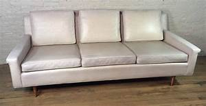 mid century modern vinyl sofa by milo baughman for thayer With vinyl sofa bed