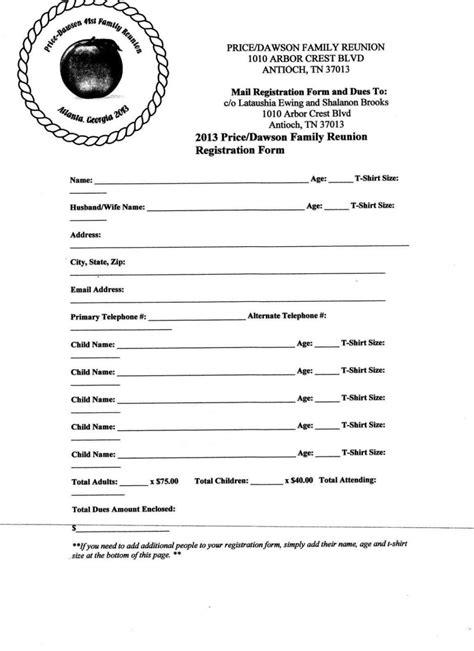 family reunion letter template sampletemplatess
