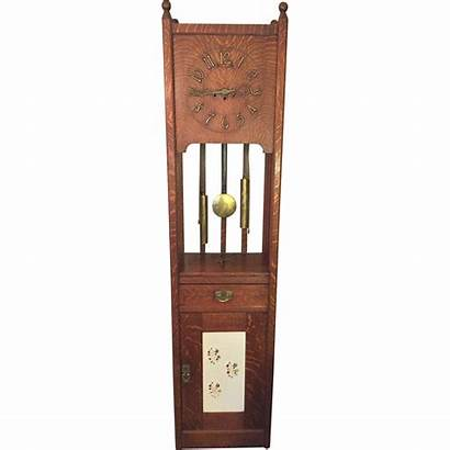 Mission Arts Crafts Clock Grandfather Craftsman Junghans