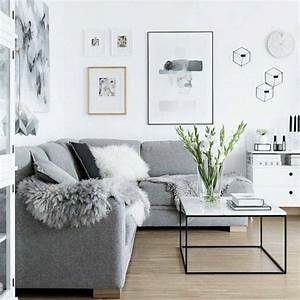 un salon en gris et blanc c39est chic voila 82 photos qui With parquet blanc gris