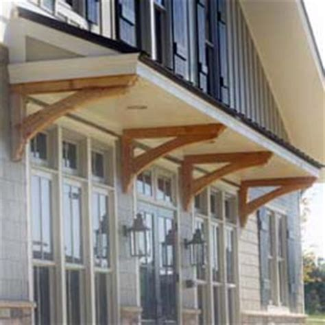 roof overhang brackets roof overhang supported  stained cedar bracket supports