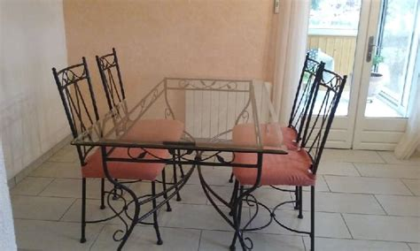 table chaises fer forge clasf