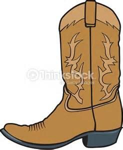 Cowboy Boot Vector Clip Art