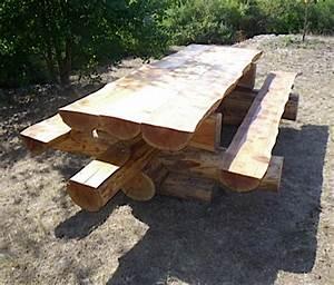 Table Exterieur En Bois : ces tables sont r alis es en m l ze coup dans le haut ~ Teatrodelosmanantiales.com Idées de Décoration