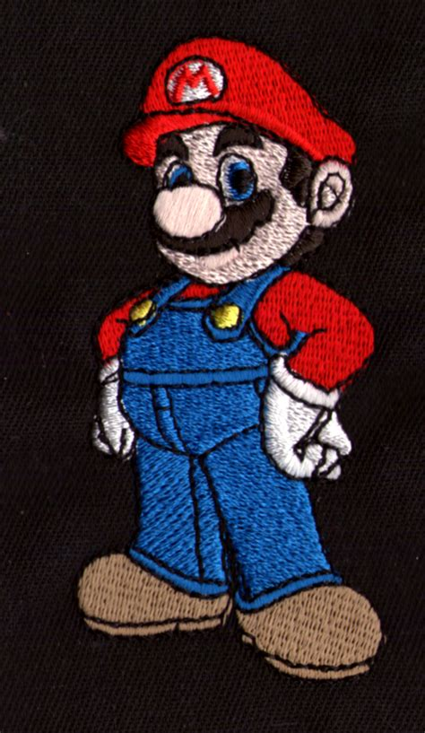 embroidered super mario bothers character  nintendo