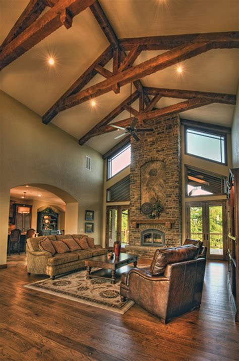 Cozy Dining Room, Great Rooms With Vaulted Ceilings Stone