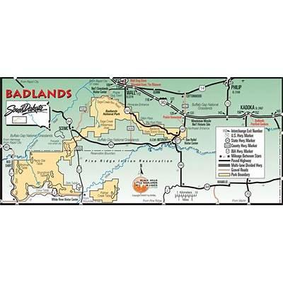 badlands south dakota map – bnhspine.com