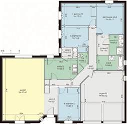 plan maison moderne plain pied 120m2 innovatinghomedecor