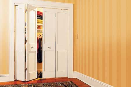 Replace Folding Closet Doors by How To Install Bifold Doors This House