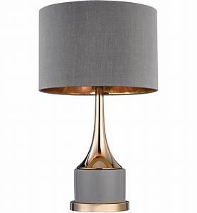Dimond - Cone Grey & Gold 18 5 Inch Table Lamp Lamps com