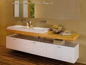 meuble pour salle de bain suspendu avec tiroirs betteroom With salle de bain design avec meuble suspendu
