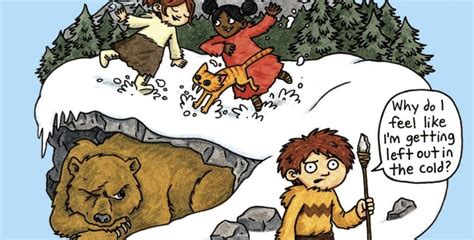 Lucy & Andy Neanderthal Tackle The Cold (and Cave Bears