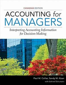 Accounting For Managers Canadian Edition  Ebook Rental  In