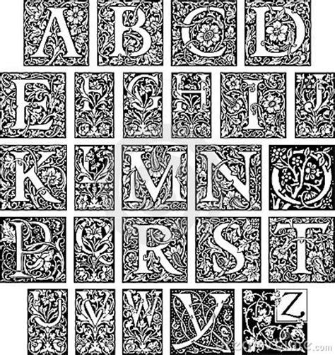 fancy initial alphabet stock photo image
