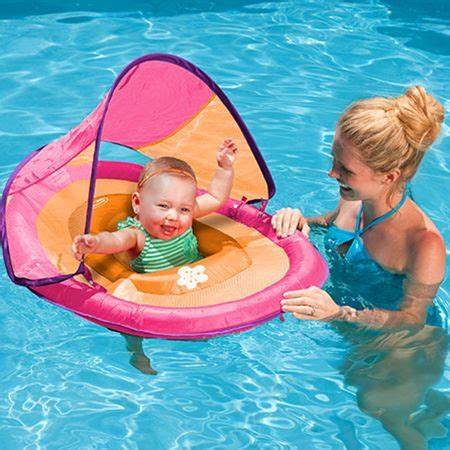 swimways baby spring float with canopy cottage toys