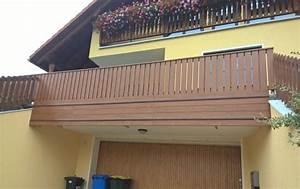 Balkongeländer Selber Bauen : golden oak balkongel nder aus kunststoff ~ Lizthompson.info Haus und Dekorationen