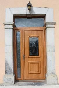 menuiserie en pvc en alu et en fer With porte d entrée pvc imitation bois