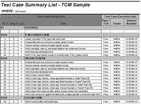 test case summary test planning  methodology