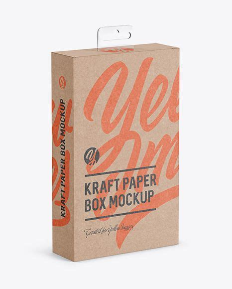 Their realistic paper texture makes you feel like your eyes are touching the surface from create an elegant presentation for your packaging designs with this shipping | mailing box mockup. Kraft Paper Box with Hang Tab Mockup - Half Side View ...