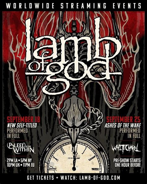 Lamb of God Announce Two Livestream Concerts | Consequence ...