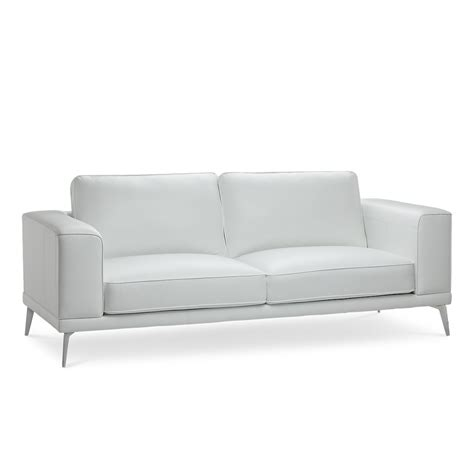 Sofa Metal Legs by Naples White Leather Sofa With Metal Legs Living Room