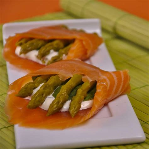 saumon cuisine recettes asperges vertes froides