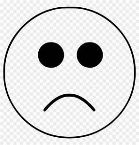 Clipart Sad Smiley Emoji Face Black And White White ...