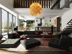 Canape gris 50 designs en nuances grises pour votre salon for Tapis persan avec canapé méridienne roche bobois