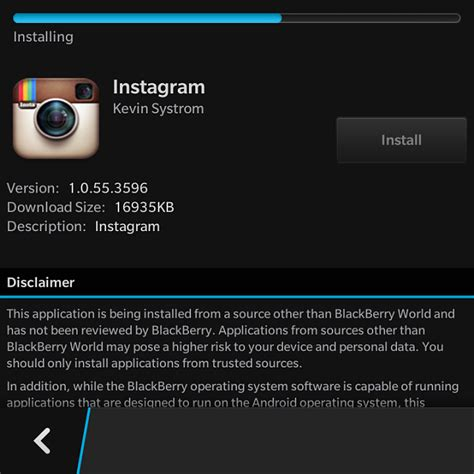 blackberry 10 2 1 allows direct apk installs has no play support