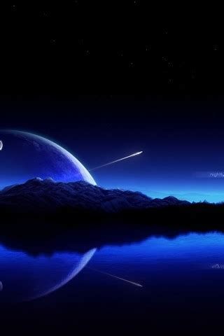 blue sky shooting star hd wallpapers