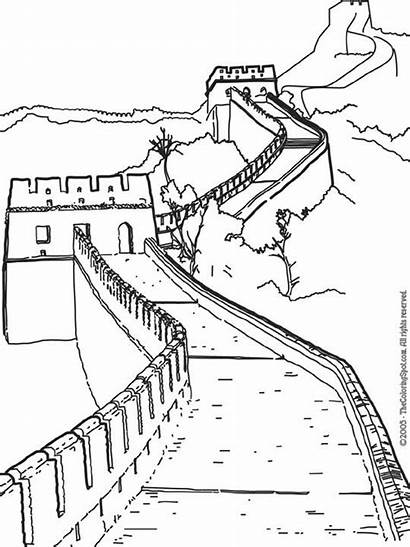 China Wall Coloring Pages Chinese