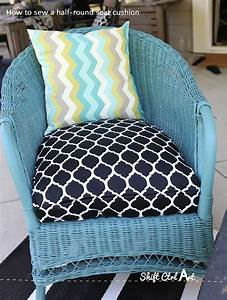 how to sew a half round seat cushion cover for my With garden furniture seat cushion covers