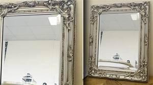 Miroir Baroque Argenté : miroir rond oeil de sorci re patine noir et bois dor 52 cm ~ Teatrodelosmanantiales.com Idées de Décoration
