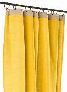 Rideau Toile De Jute : jute rideau en toile jaune ~ Farleysfitness.com Idées de Décoration