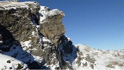Rockslide Mountain Avalanche Stone Swiss Gifs Giphy
