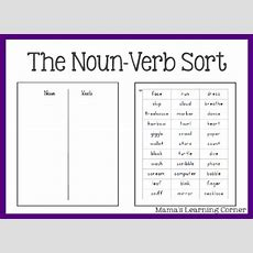 Parts Of Speech The Nounverb Sort  Mamas Learning Corner