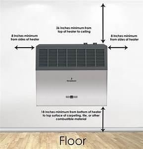 10 000 Btu Blue Flame Vent-free Heater