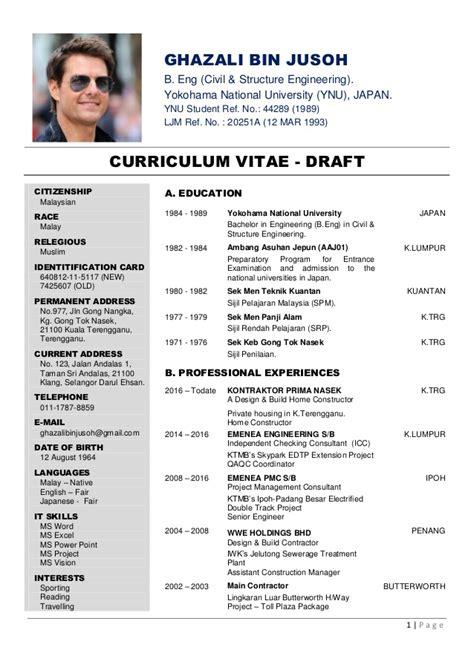 Draft Curriculum Vitae curriculum vitae draft