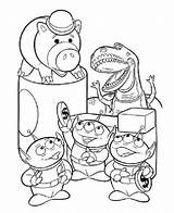 Toy Coloring Story Pages Printable Aliens Disney Colouring Alien Sheets Print Little Thingkid Printables Books Halloween Characters Ham Alt Worksheets sketch template