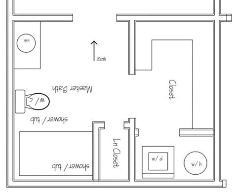 bathroom floor plans with washer and dryer bath closet laundry area layout house