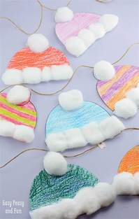 winter hats craft for classroom craft easy peasy and