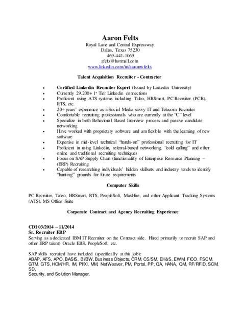 aaron felts resume february 2015