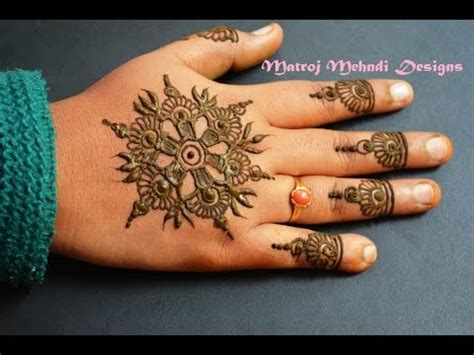 simple easy mehndi henna designs  beginners matroj