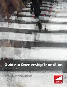 Guide To Ownership  U0026 Succession Planning  2nd Edition