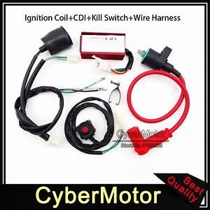 Racing Ignition Coil Ac Cdi Wiring Loom Harness Kill