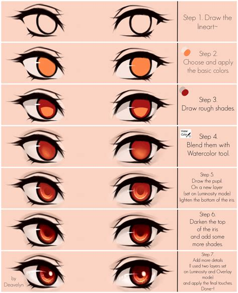 anime eyes tutorial eyes coloring tutorial v 2 0 by deavelyn draw and